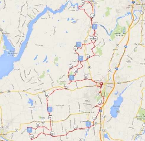 Tour De Cure Map